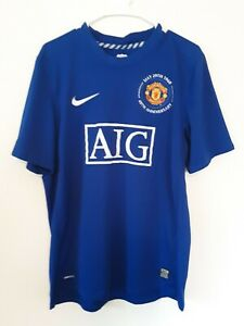 Manchester United Nike 17 Nani 40th Anniversary 1968 Barclays Soccer Jersey Blue