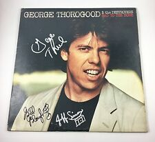 George Thorogood Signed Autographed Bad To The Bone Vinyl Album COA PROOF