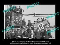 OLD POSTCARD SIZE PHOTO POLAND MILITARY POLISH NAVY SUBMARINE ORP SOKOL c1944
