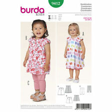 Burda Sewing Pattern 9412  Babies Childs 6M-3 Leggings Semi Fitted Top Dress