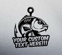 CUSTOM CARP FISHING DECAL LOGO FOR CAR VAN LAPTOP VINYL STICKER FUNNY angling