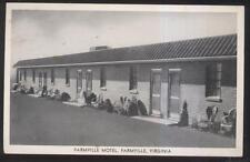 Postcard FARMVILLE Virginia/VA  Local Area Tourist Motel Motor Court view 1930's
