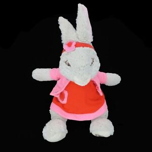 "Nickelodeon Lily Bobtail Girl Bunny Gray Stuffed Animal Plush 12"" Toy by Gund"