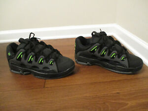 BNIB Size 12 Osiris D3 2001 Shoes Black, Green, Charcoal