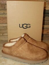 New UGG CLASSIC Water Resistant Suede Shearling Slippers US 7 8 9 10 COGNAC
