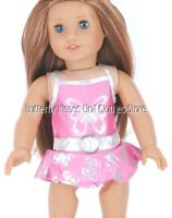 Pink Metallic Butterfly Swimsuit 18 in Doll Clothes Fits American Girl