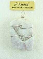 "1.4""/36mm  AZOZEO™ Amazez Azeztulite™ sterling silver wire wrapped Pendant #419"