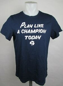 """Notre Dame Men's NCAAAdidas """"Play like a Champion Today"""" T-Shirt"""