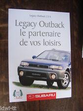 Subaru Legacy Outback 2,5 L Prospekt / Brochure / Depliant, F