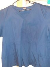 Dickies Scrub: V Neck Unisex Scrub Top (Dickies Navy blue) 2X-Large
