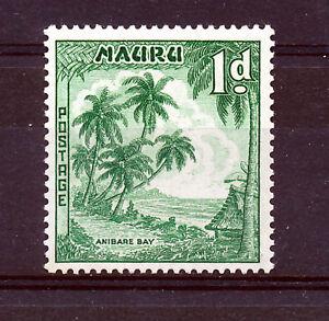 NAURU 1954 DEFINITIVES SG49a (1d) emerald green  MNH