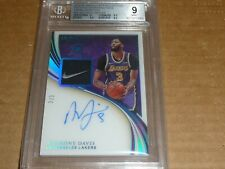 2019/20 Immaculate ANTHONY DAVIS AUTOGRAPH/AUTO JERSEY PATCH TAG LAKERS /3 BGS 9