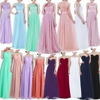 Sexy Women Long Chiffon Evening Formal Party Cocktail Bridesmaid Prom Gown Dress