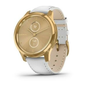 Garmin vívomove® Luxe 24K Gold Stainless Steel Case w/ Leather and Extra Band