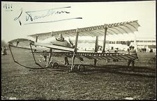 Louis Paulhan Prominent French Aviation Pioneer Autograph Postcard ''Rare''
