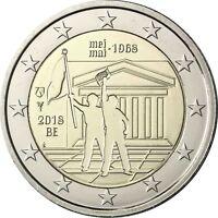 Belgien 2 Euro-Gedenkmünze 2018 Stgl Studentenrevolte vom Mai 1968 in Münzkapsel