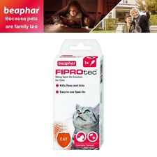 Beapher FIPROtec Spot On Flea Tick Treatment Solution 1 Pipette For Cat Over 1KG