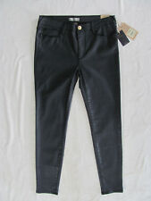 True Religion Halle Super Skinny Jeans- Faux Leather-Black -Size 32-NWT $199