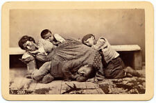 CDV Naples Costumes Woman and children homeless Original photo Conrad 1870 S1099