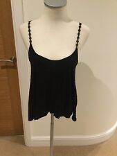 Bozzolo Black Top Size Large Nice Draping Detail Straps