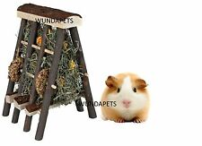 TRIXIE RABBIT AND SMALL RODENTS NATURAL WOOD HAY MANGER WITH CORN RINGS 60773