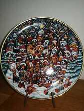"""Franklin Mint Teller """"Santa Paws"""" by Bill Bell - LIMITIERT"""