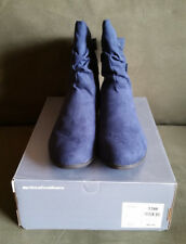 Avenue Cloudwalkers Collection Bryant Ruched Bootie - Navy 13W
