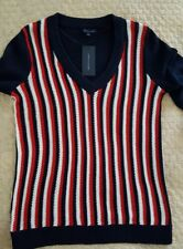 Tommy Hilfiger Women's V-neck Cotton Sweater  Top NWT Sz: Large  $69.99