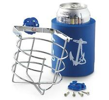 chrome plated brass swivel mug cup can drink holder Blue boat no spill SL52110
