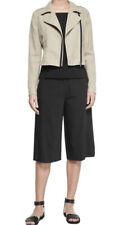 Theory 'Grega Seasons' Wide Leg Bermuda Black Career Shorts Size 10