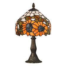 Tiffany Tischlampe SUNFLOWER mit fröhlichen Sonnenblumen