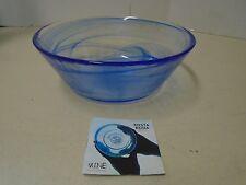 Kosta Boda Mine Blue Art Bowl Glass Sweden Ulrica Hydman Vallien Design New Sign
