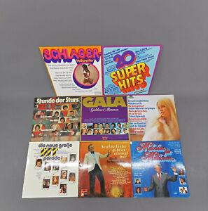 99880145 Konvolut Schallplatten Schlager Hitparade Sampler 8 Stück