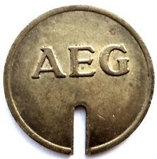 GERMANY AEG Wertmarke für Münzzähler Telephone Token 25.7mm 5.2g Brass. O9.2