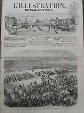 L' ILLUSTRATION 1856 N 712  REVUE DE LA GARDE IMPERIALE, PASSEE AU CHAMP DE MARS