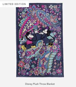 "Vera Bradley Disney Sensational Six Paisley 50"" x 80"" Plush Throw Blanket"