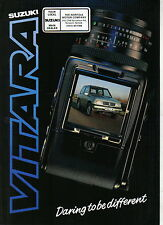 Suzuki Vitara 1.6 JLX 3-dr 1988-89 Original UK Sales Brochure