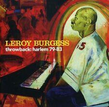 Leroy Burgess - Throwback: Harlem 79-83 [New CD]