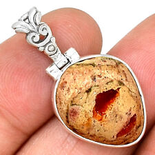 Mexican Fire Opal 925 Sterling Silver Pendant Jewelry PP202805