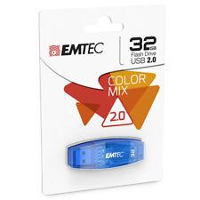 kQ EMTEC USB FlashDrive 32 GB C410 (Blau) USB 2.0 Stick ECMMD32GC410