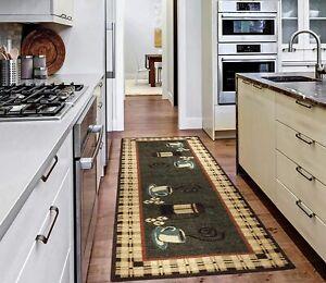 Ottomanson Kitchen Runner Rug Carpet Non Slip Area Rug Floor Mat Rubber Backed