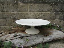 More details for antique mid 19th century porcelain tazza - white ceramic cake stand - tea party