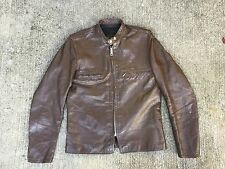 Super Rare!  BROOKS  Gold Label Cafe Racer Motorcycle Leather Jacket . Size 40