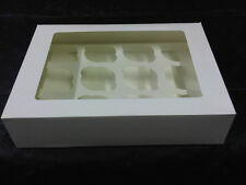 White Cupcake/Muffin Boxes to hold 12 Cakes (pack of 10)