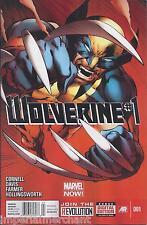 Wolverine Comic Issue 1 Modern Age First Print 2013 Cornell Davis Hollingsworth
