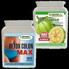 30 Garcinia Cambogia 1000MG + 30 Detox Max pérdida de peso dieta control del apetito