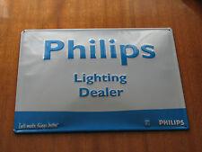 Philips Sign Lighting Dealer Ligth rare used white blue 39 x 29 cm metal
