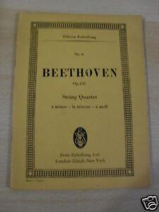 EDITION EULENBURG BEETHOVEN OP.132 STRING QUARTET