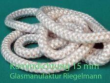 Kamindichtung, Ofendichtung Kordel 15 mm Durchmesser  rund 3 m lang weiß
