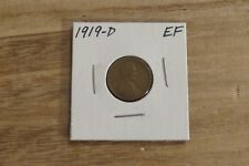 1919-D Lincoln Cent (EF)